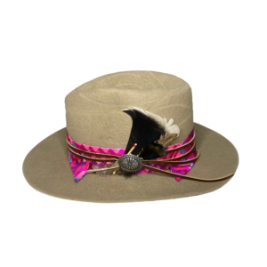 Greeley Hat Works' Wormwood Hat, a side view, made by Collins Johnson